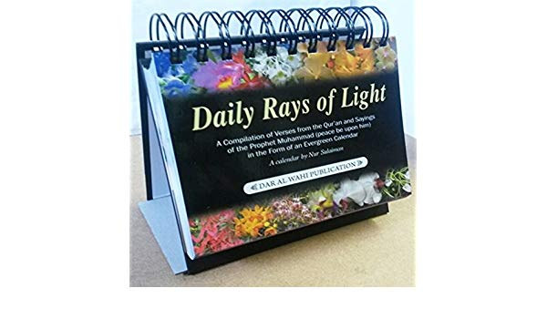 Daily Rays of Light Desktop Evergreen Lifetime Calendar: Gift